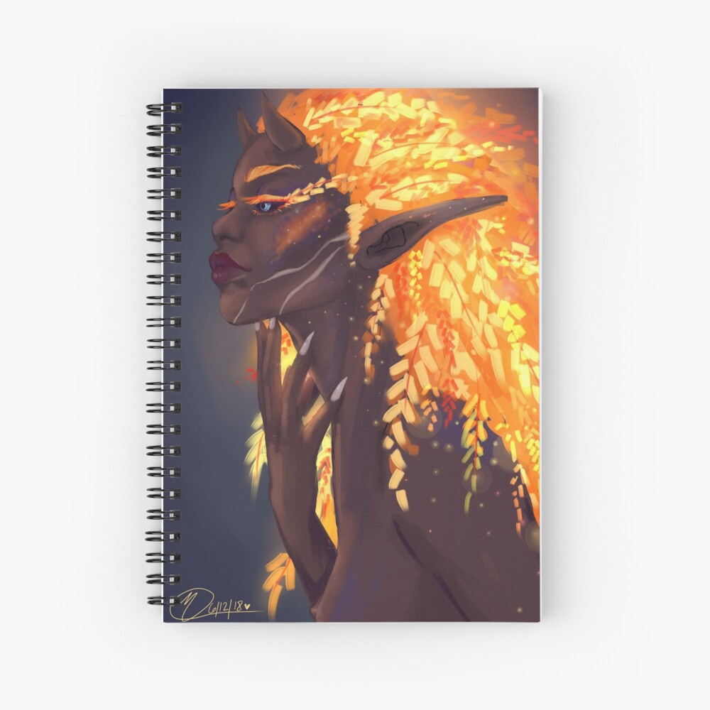 Fuego de hadas Cuaderno de espiral