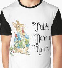 Public Domain Rabbit Graphic T-Shirt