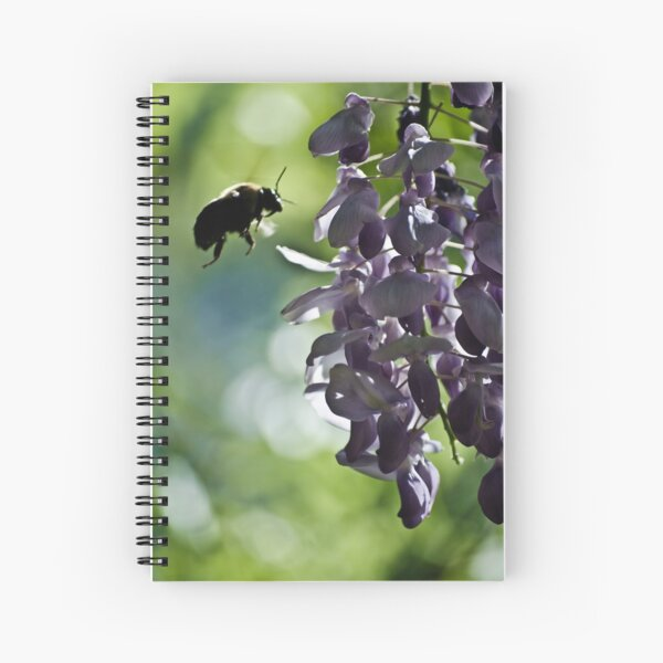 checking out the wisteria Spiral Notebook