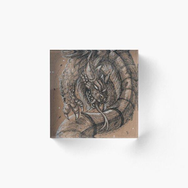 Dragonsnake Acrylic Block