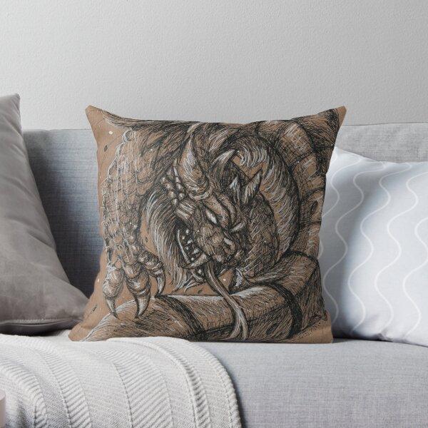 Dragonsnake Throw Pillow