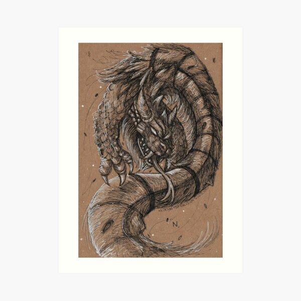 Dragonsnake Art Print