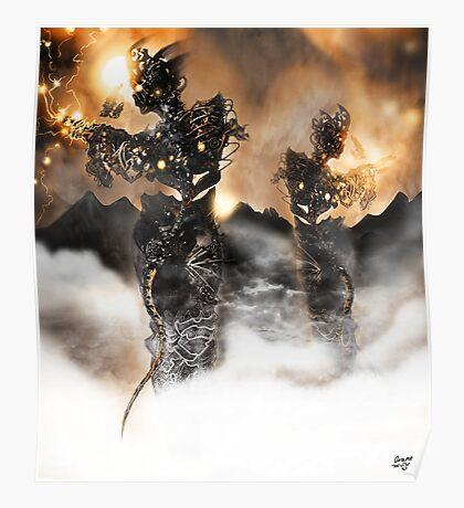 Mechanised Desert wanderers [Digital Figure Illustration] Version 2 Poster