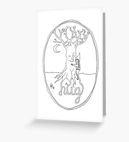 Tree hugger hand drawn type Greeting Card