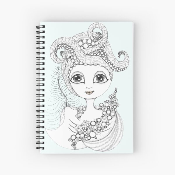 Calamari Queen Spiral Notebook