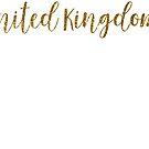 United Kingdom Gold United Kingdom by TrevelyanPrints