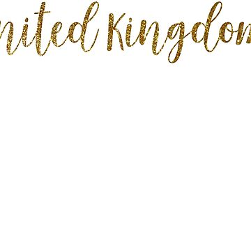 United Kingdom Gold United Kingdom by TrevelyanPrints