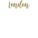 London Gold United Kingdom by TrevelyanPrints
