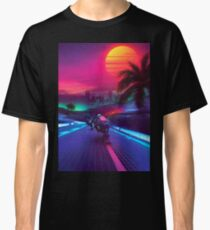 Synthwave Midnight Outrun Classic T-Shirt