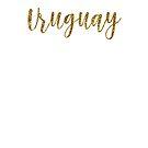 Uruguay Gold Uruguay by TrevelyanPrints