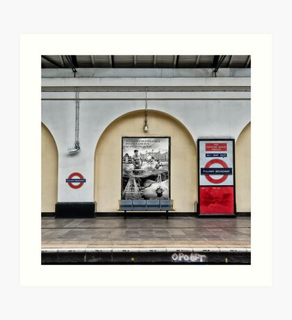 Fulham Broadway Tube Station Art Print