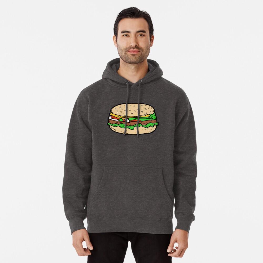 Mens Full-Zip Hooded Art-Burger Fleece Sweatshirt