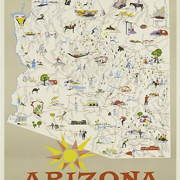 Vintage poster - Arizona by mosfunky