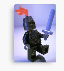 Dragon Knight with Chain Mail, Chain and Helmet Canvas Print