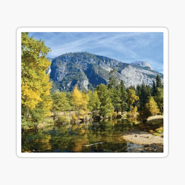 Fall Reflections Yosemite Sticker