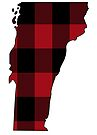 Vermont in Red Plaid by Sun Dog Montana
