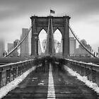 Tourists and Snow by Randy  LeMoine