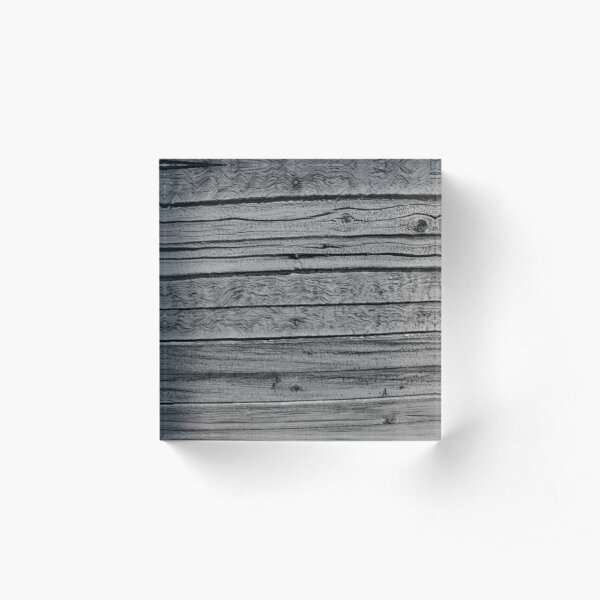 Wood Siding Black and White Acrylic Block