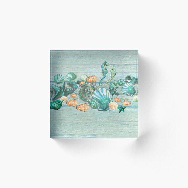 Love Summer Ocean Acrylic Block