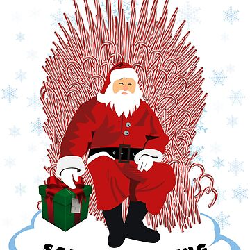 Christmas is coming santa on candy cane throne  by chardo55