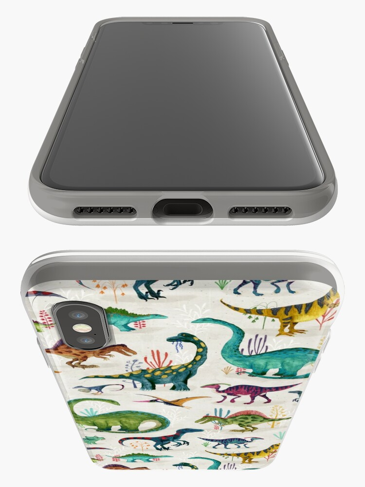 Alternate view of Bright Dinosaurs iPhone Case & Cover