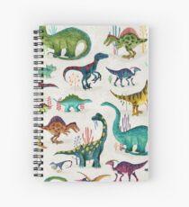 Cuaderno de espiral Dinosaurios brillantes