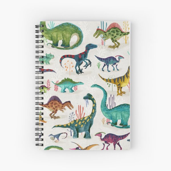 Bright Dinosaurs Spiral Notebook