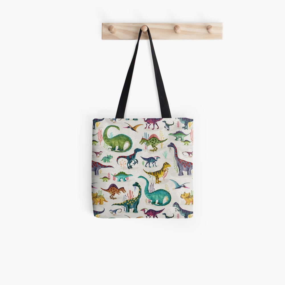 Bright Dinosaurs Tote Bag