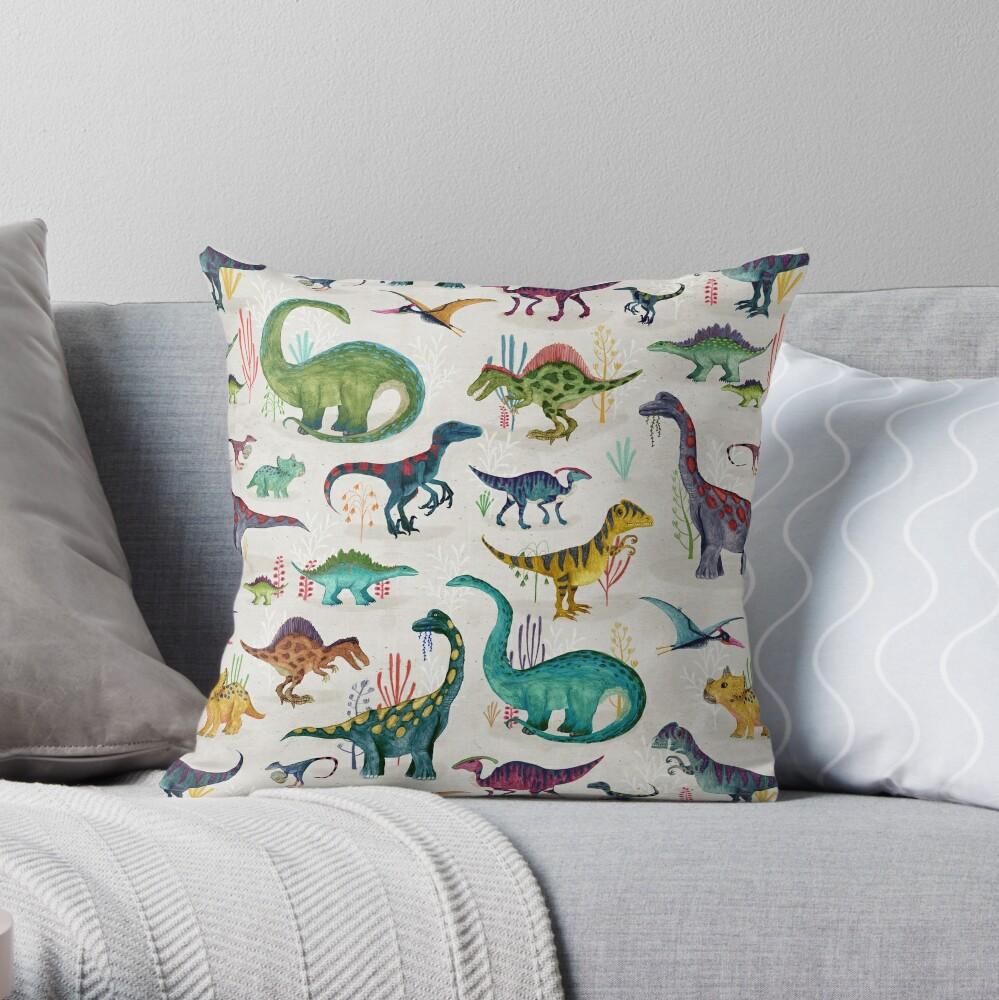 Helle Dinosaurier Dekokissen