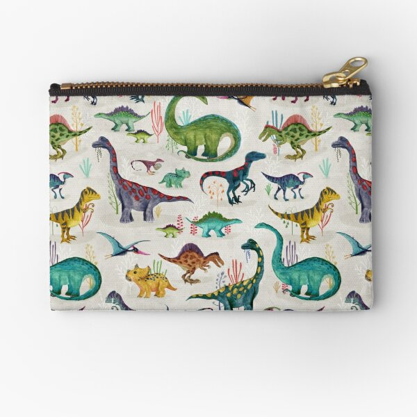 Bright Dinosaurs Zipper Pouch