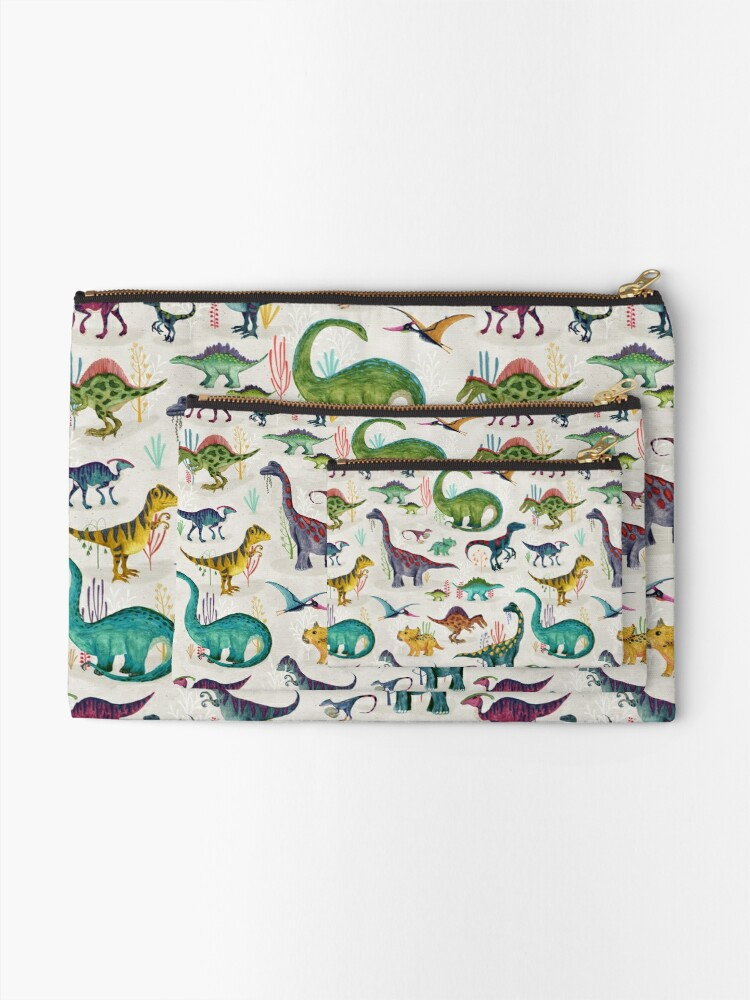 Alternate view of Bright Dinosaurs Zipper Pouch
