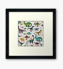 Bright Dinosaurs Framed Print