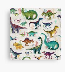 Bright Dinosaurs Canvas Print