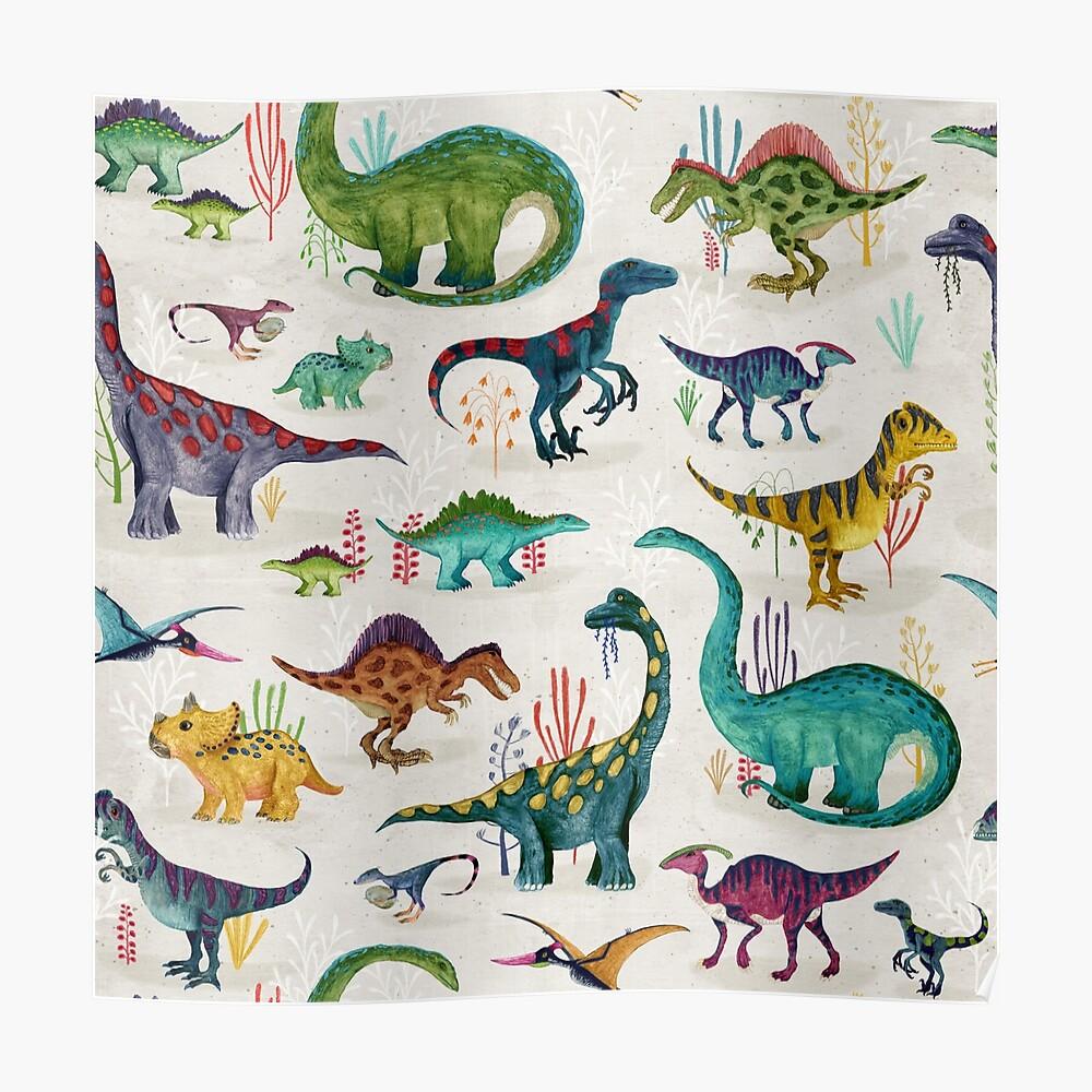 Bright Dinosaurs Poster