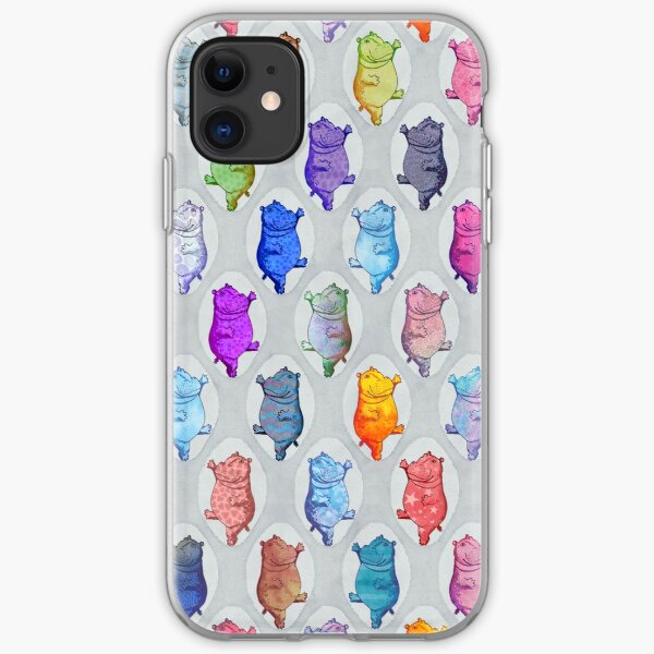 Dancing Hippos iPhone Soft Case