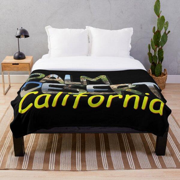 Big Letter Palm Desert California Throw Blanket