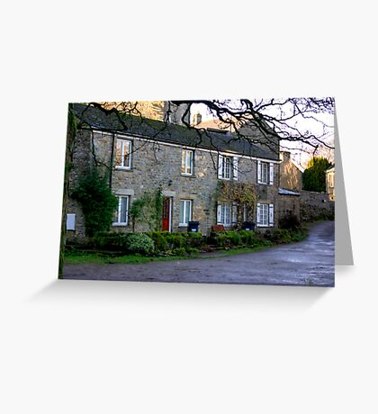 West Burton Cottages Greeting Card