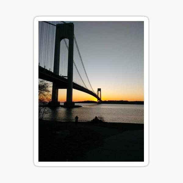 #BayRidge #famousplace #internationallandmark #VerrazanoNarrowsBridge #BathBeach #NewYorkCity #USA #americanculture #water #suspensionbridge #architecture #travel #sunset #sky #river #reflection Sticker