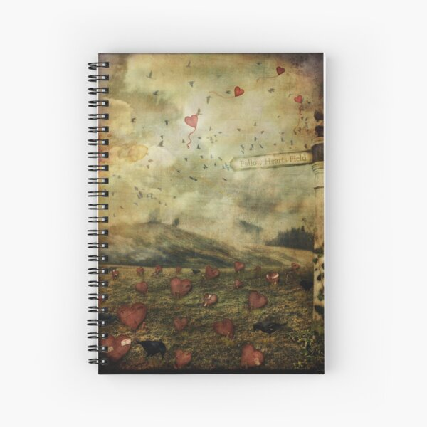 Fallow Hearts Field Spiral Notebook