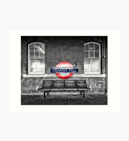 Grange Hill Tube Station Art Print