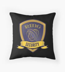 Boys Ring Security Funny Wedding Ring Bearer Gift Throw Pillow