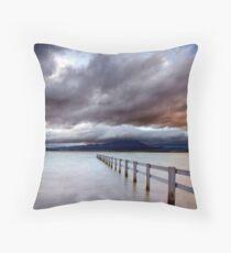 A Storm Brews, Mortimer Bay, Tasmania Throw Pillow