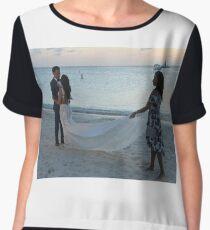#Wedding #beach #water #sea #sand #people #travel #fun #romance #summer #enjoyment #horizontal #colorimage #watersedge #women #leisureactivity #recreationalpursuit #vacations #traveldestinations Chiffon Top