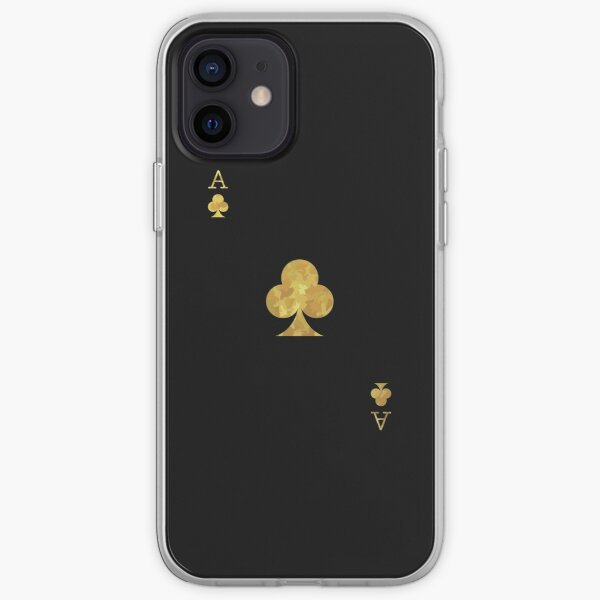 Gold Ace Playing Card iPhone Soft Case