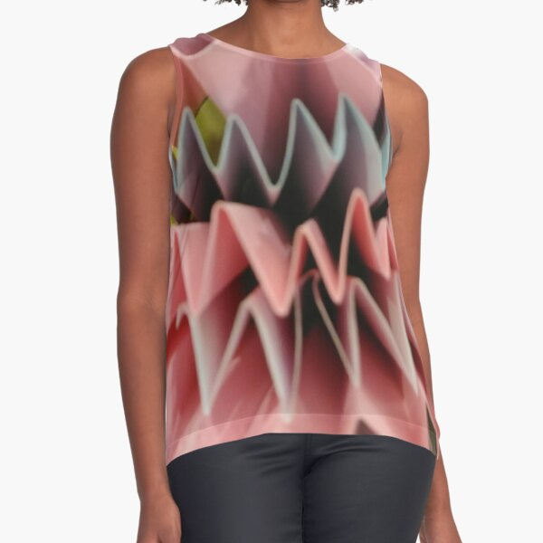 #art #design #origami #education #abstract #shape #paper #bright #vertical #FortHamilton #NewYorkCity #USA #americanculture #wide #nopeople #schoolbuilding #colors #newyorkstate #newyorkcity  Sleeveless Top