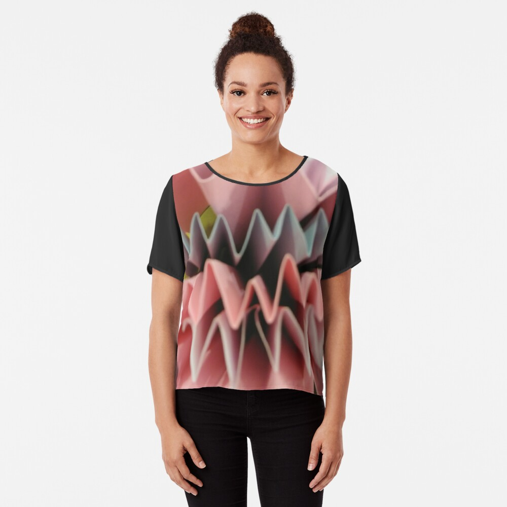 #art #design #origami #education #abstract #shape #paper #bright #vertical #FortHamilton #NewYorkCity #USA #americanculture #wide #nopeople #schoolbuilding #colors #newyorkstate #newyorkcity  Chiffon Top