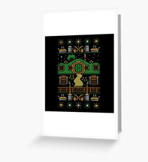 Hobbit house xmas Greeting Card