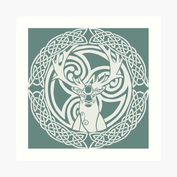 I am a Stag: of seven tines [Snow] Art Print