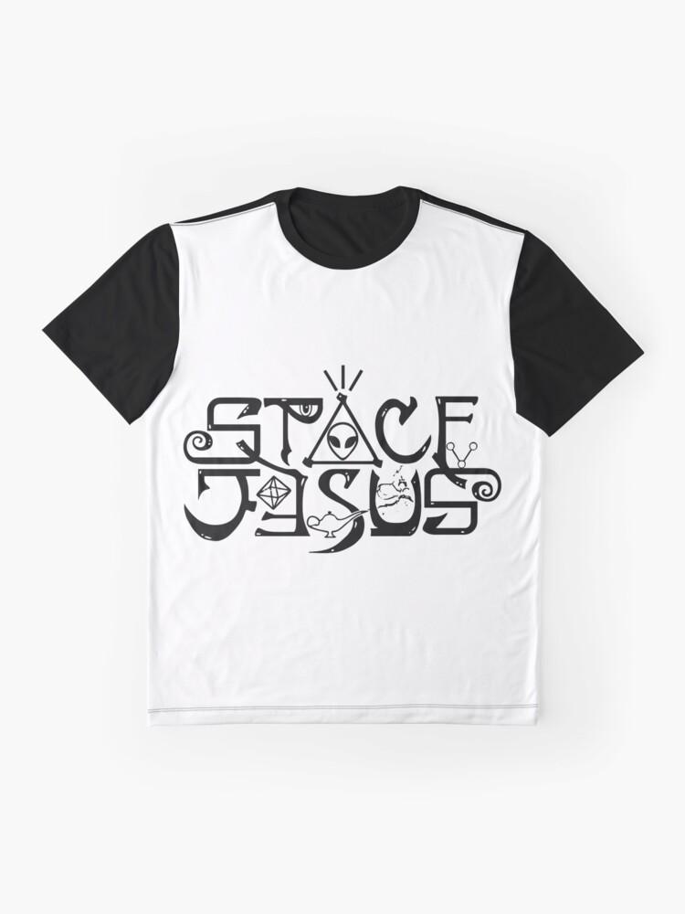 Alternative Ansicht von Raum Jesus Logo Grafik T-Shirt