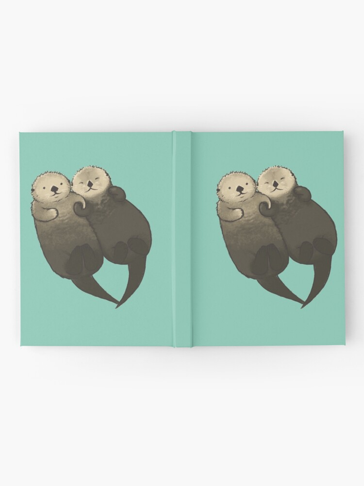 Alternate view of Significant Otters - Otters Holding Hands Hardcover Journal